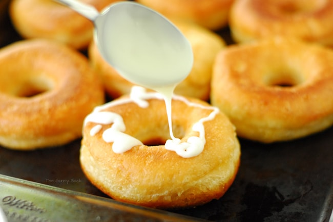 Drizzle Icing On Donuts