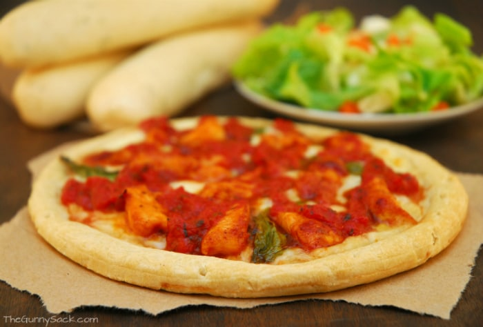 Fire Roasted Tomato Chicken Pizza Dinner