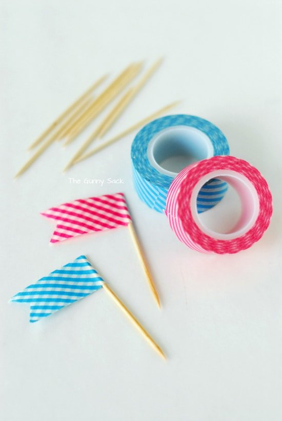 Washi Tape Flags supplies
