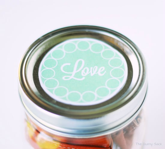 Printable Love Label For Mason Jar