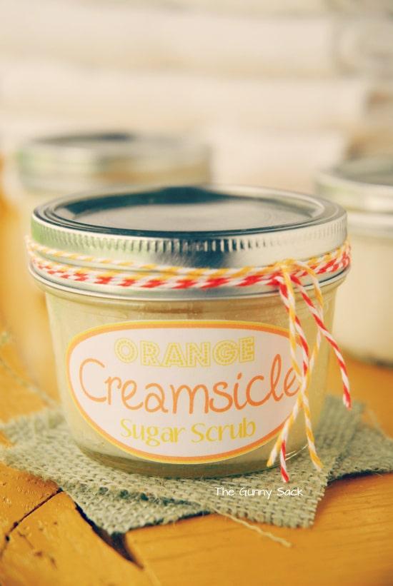 Orange Creamsicle Sugar Scrub Gift In A Jar