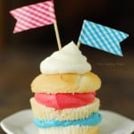 Red White Blue Layered Cupcake