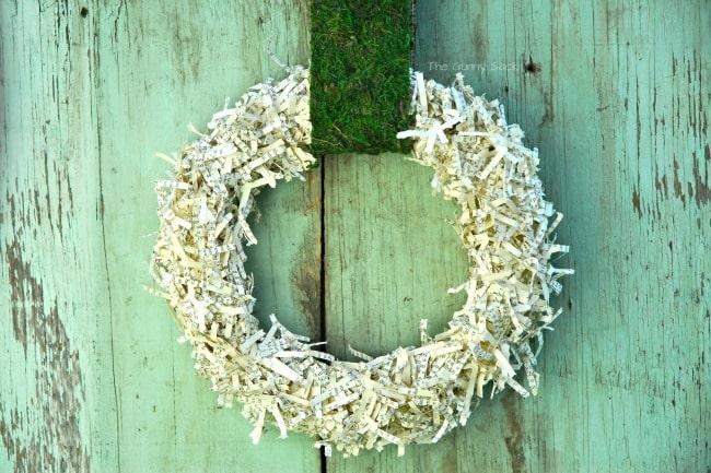 Shredded Paper Wreath