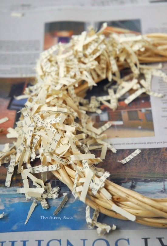 Stick Paper Shreds