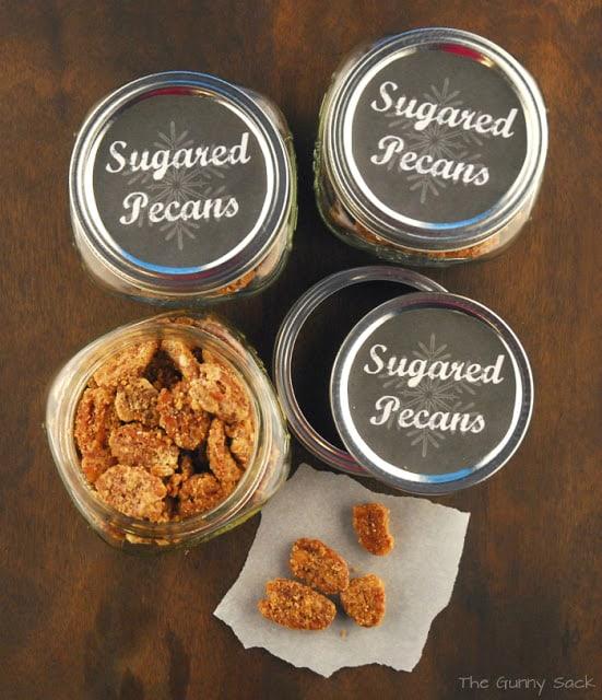 Meringue Glazed Sugared Pecans