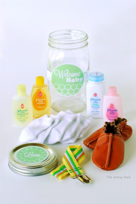 Welcome Baby Jar Contents