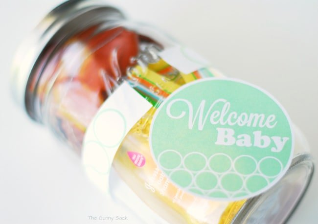Welcome Baby Ribbon Label