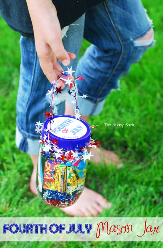 4th Of July Craft: A Gift In A Jar