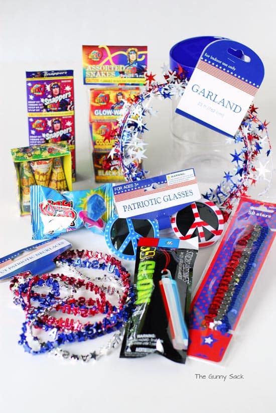 4th of July Mason Jar Supplies