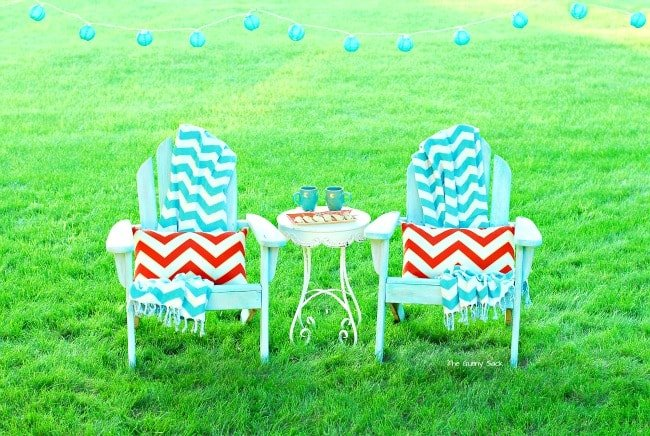 Chevron Print Outdoor Decor