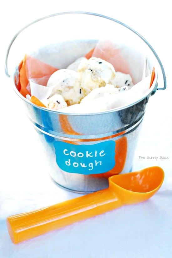 Cookie Dough Ice Cream Bucket