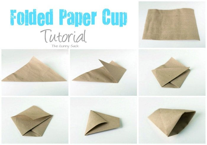 Folded Paper Cup Tutorial