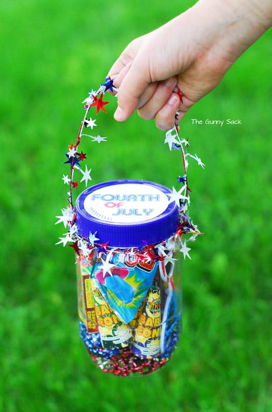 Fourth Of July Mason Jar Gift