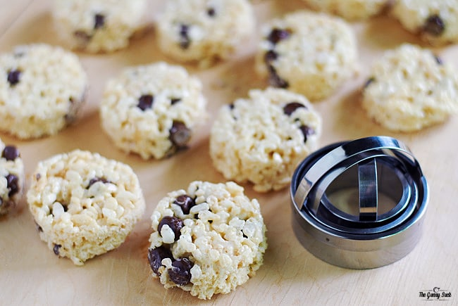 Cookie Dough Rice Krispie Bars
