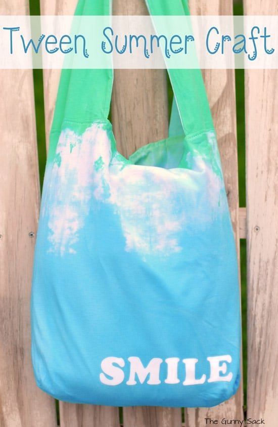 Tie dye tote tween summer craft idea for Diy projects for tweens