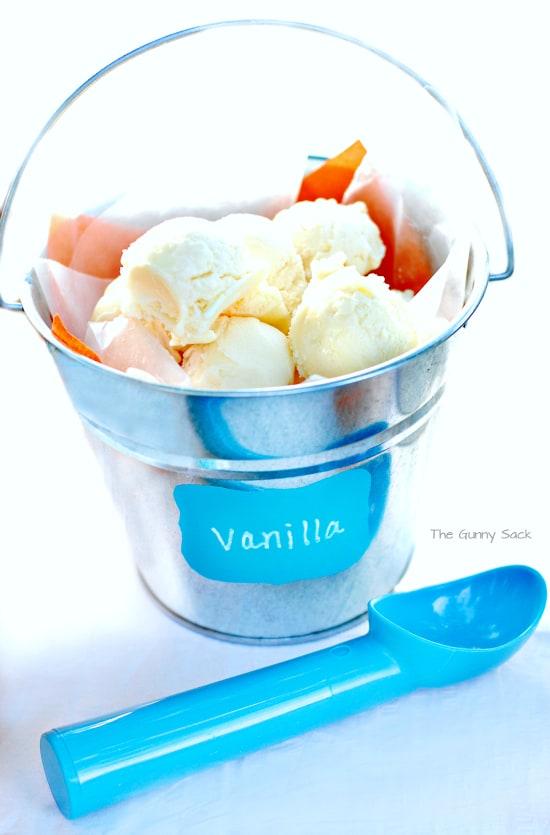 Vanilla Ice Cream Pail