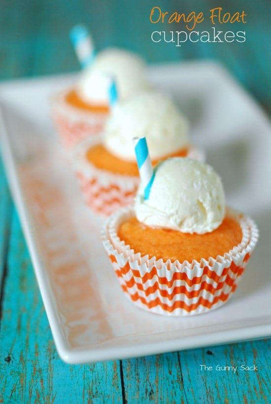 Orange Float Cupcakes