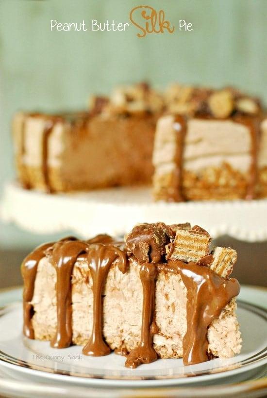Peanut Butter Silk Pie Slice