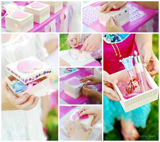 Princess Party Favor Box Craft Idea