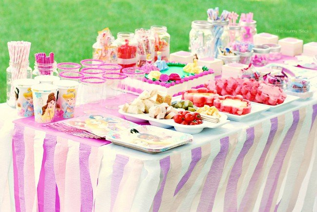Princess Party table set up