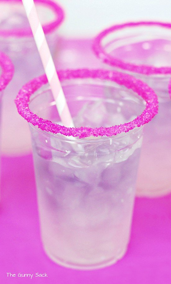 Princess Sparkler Party Layered Drink