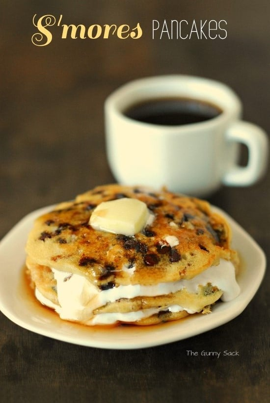 S'more Pancakes Recipe