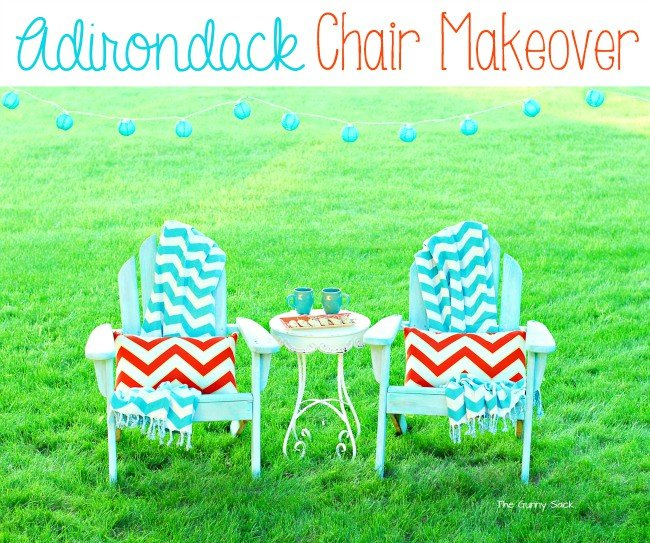 Adirondack Chair Makeover Tutorial