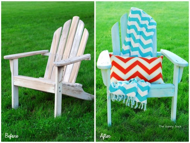 Adirondack Chairs Before and After