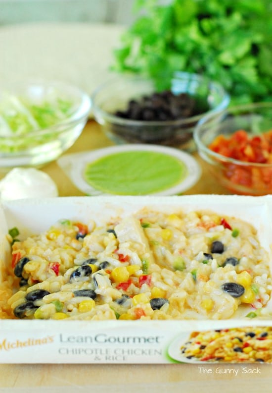 Chipotle Chicken and Rice Burrito Ingredients