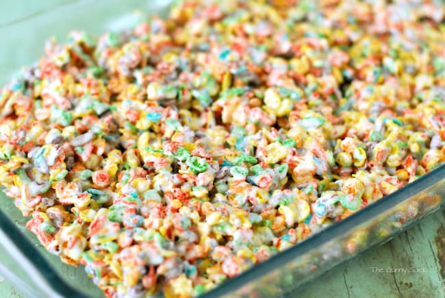made the Fruity Pebbles Treats using the Rice Krispies Treats recipe    Rice Crispy Treats Recipe Marshmallow Cream