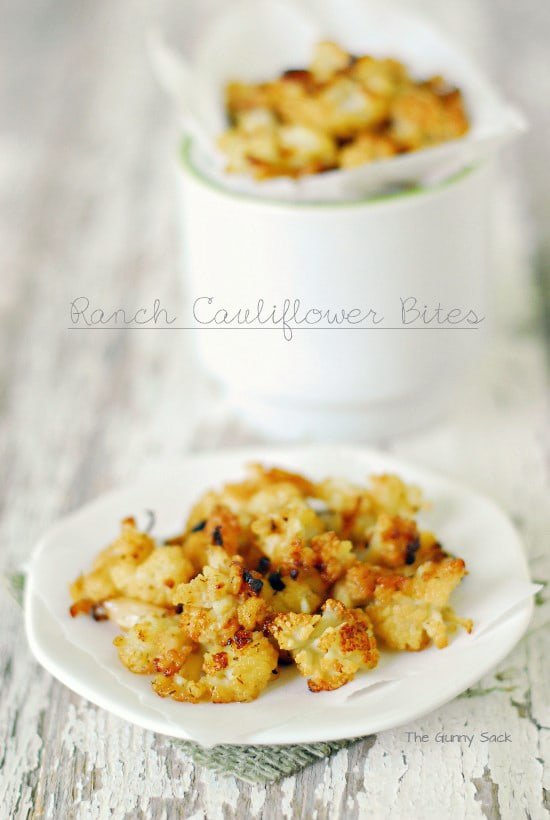 Ranch Cauliflower Bites | thegunnysack.com