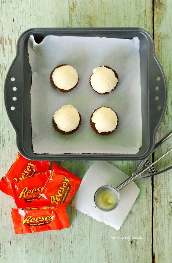 Reeses Peanut Butter Cup Ice Cream Sandwich Supplies