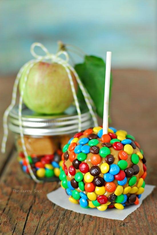 Caramel Apple In A Mason Jar