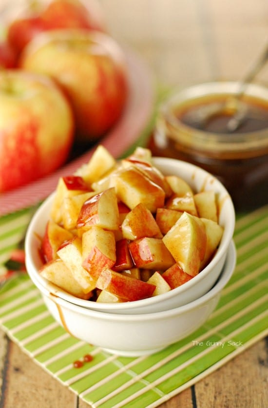 Caramel Apples In A Dish