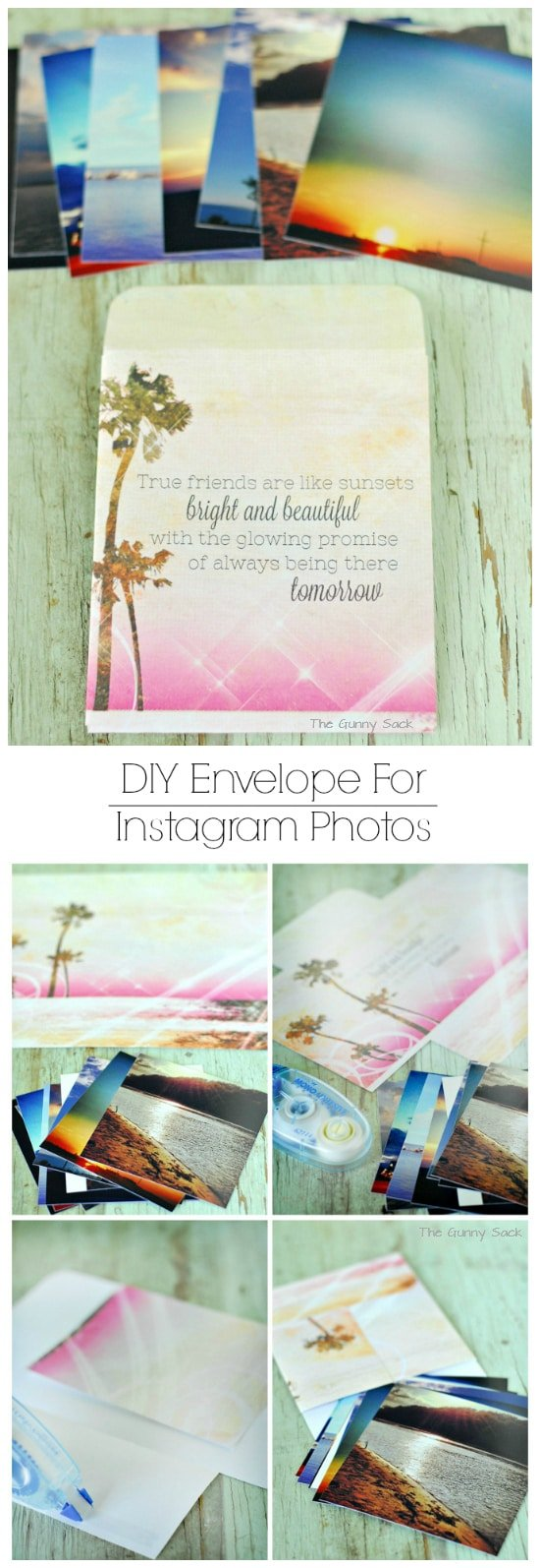 DIY Envelope For Instagram Photos #shop