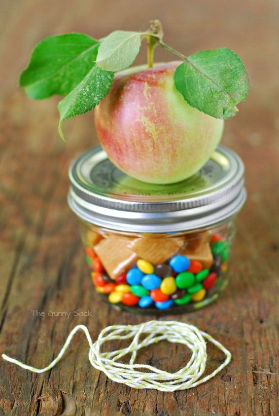 caramel apple Gift In A Jar