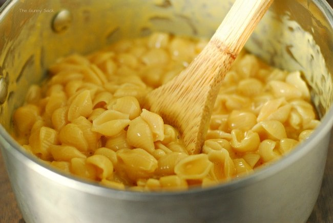 Macaroni and Cheese in pot