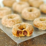 Pumpkin Chocolate Chip Baked Mini Doughnuts