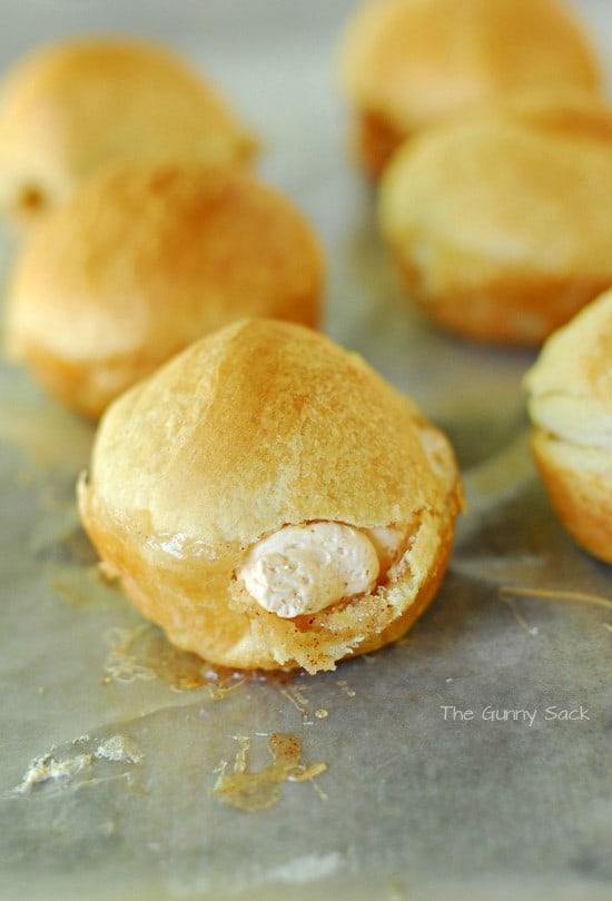Pumpkin Cream Puffs Filled