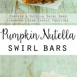 Pumpkin Nutella Swirl Bars