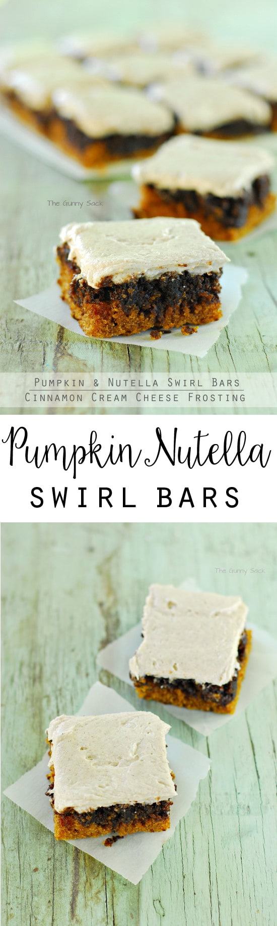 Pumpkin Nutella Swirl Bars