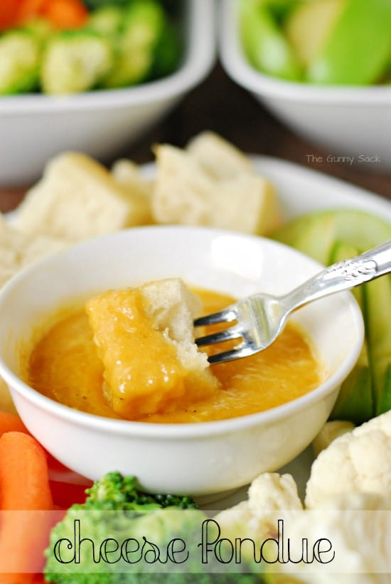 Cheese Fondue in bowl