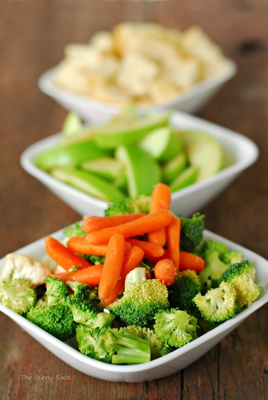 Cheese Fondue Veggies