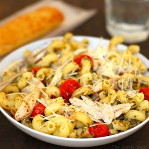 Chicken Pesto Cavatappi