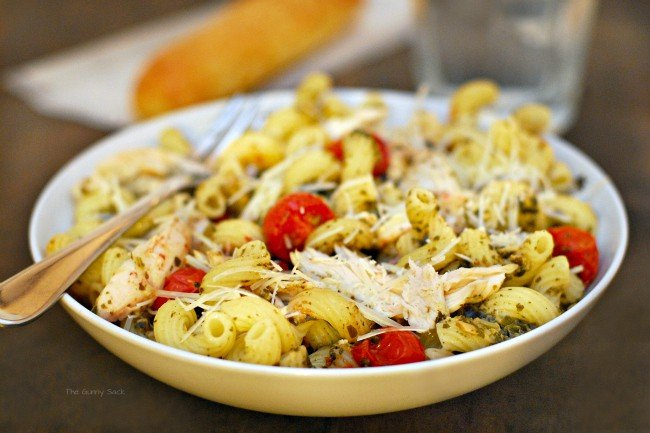 Chicken Pesto Pasta in bowl