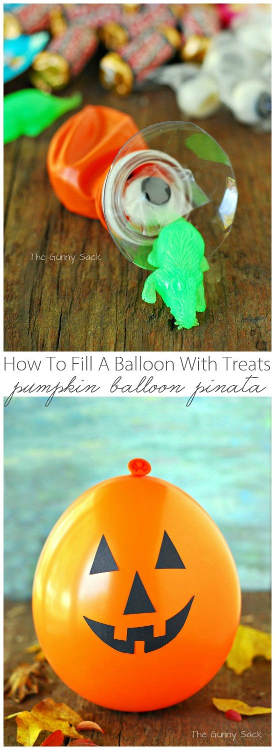 Pumpkin Balloon Pinata Collage