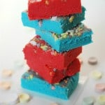 Red n Blue Smarties Fudge