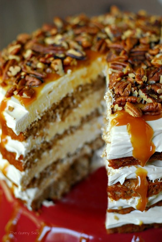Caramel Apple Mousse Cake // The Gunny Sack