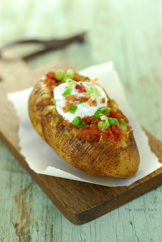 Slow Cooker Baked Potato with toppings