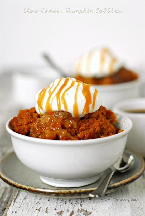 Slow Cooke Pumpkin Cobbler